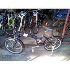 จักรยานพับญี่ปุ่นมีระบบเกียร์ วงล้อขนาด16-20นิ้ว สีน้ำเงิน